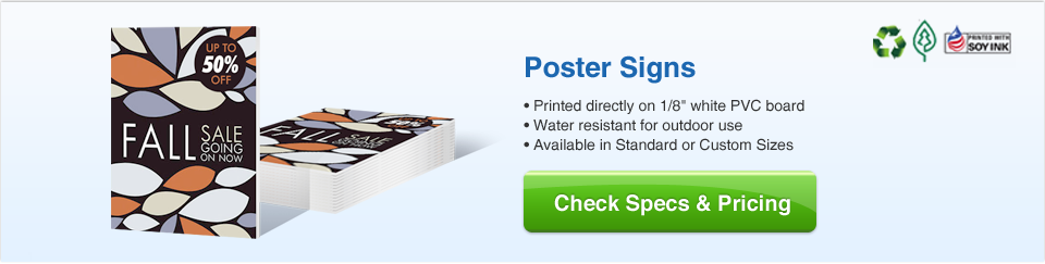 Poster Signs